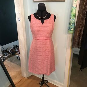 White House Black Market Dresses - Pink Tweed Dress Size 2 White House Black Market